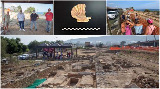 Nella gallery le foto dell'Open Day del 25 luglio 2021 e la conchiglia del pellegrino ritrovata nell'area scavi.