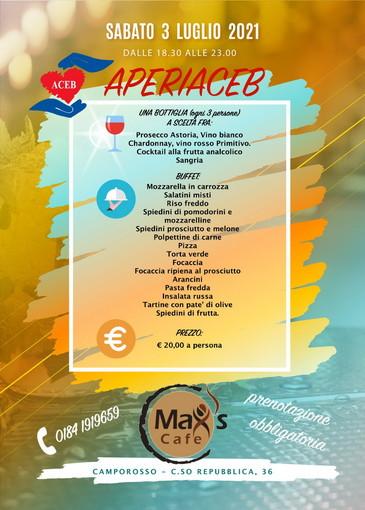 Camporosso: domani dalle 18.30 appuntamento con 'Aperiaceb', l'apericena benefico organizzato da Aceb