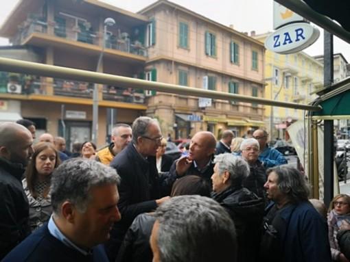 Elezioni Sanremo: il candidato sindaco Alberto Biancheri ha incontrato la comunità di San Martino ed i tifosi della Sanremese