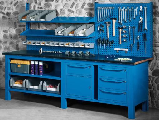 Banchi da lavoro Castellani Shop, qualità personalizzabile