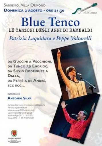 'Blue Tenco – Le canzoni degli anni di Rambaldi' a Villa ormon di Sanremo