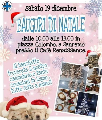 Enpa di Sanremo: domani banchetto in Piazza Colombo presso il Cafè Renaissance