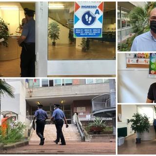 Green pass a scuola: nuova protesta della bidella del 'Ruffini', intervengono i Carabinieri. Il preside Ronco minacciato dai 'no vax' (foto e video)