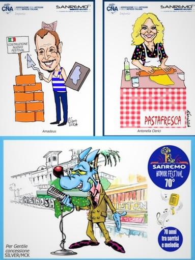 Festival di Sanremo: in arrivo le cartoline di Lupo Alberto e di Tiziano Riverso