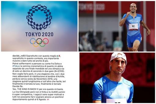 """Tokyo 2020, l'imperiese Davide Re commenta l'Olimpiade: """"Finalmente è tornata la luce. The king is back! E per ora questo mi basta"""""""