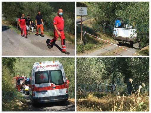Chiusanico: danno fuoco ad alcune sterpaglie in campagna, l'incendio investe una 73enne che muore ustionata (Foto e Video)