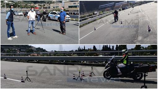 Taggia: con i primi esami post lockdown, inaugurata la pista per la patente della moto