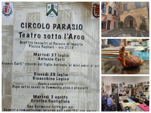 Imperia, stasera inizia con Antonio Carli 'Teatro sotto l'arco', la rassegna teatrale del Parasio (video e foto)
