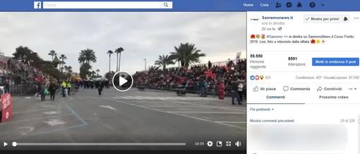 La diretta video del Corso Fiorito di Sanremo News ha raggiunto 59550 persone in Italia e non solo