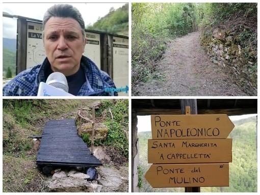 """Rezzo, nuova vita per il ponte Napoleonico: sinergia tra Comune e Parco delle Alpi Liguri. Adorno: """"Collaborazione proficua per il nostro entroterra"""" (foto)"""