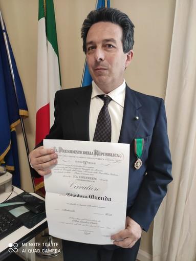 Molini di Triora: a Gianluca Ozenda il diploma di Cavaliere dell'Ordine al Merito della Repubblica Italiana