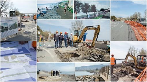 Via ai lavori per il nuovo waterfront di Riva Ligure: la passeggiata sarà dedicata alla Principessa Grace di Monaco - Video Servizio
