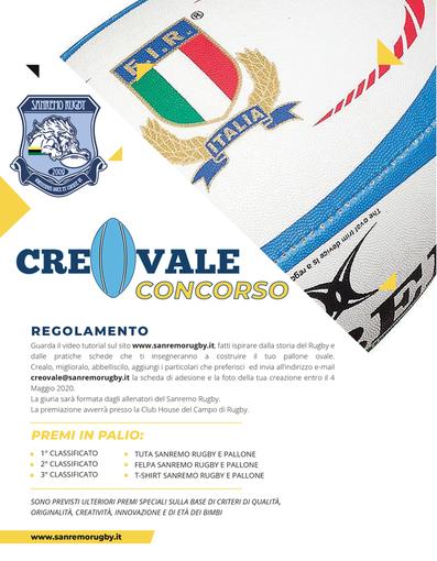 CreaOvale: al via il concorso dell'Imperia Rugby e del SanremoRugby