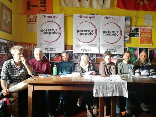 Elezioni: raccolte dalla lista Potere al Popolo Ponente Ligure 376 firme di cittadini/e della Provincia