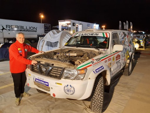 Dakar: dopo la quinta tappa, nono posto assoluto per l'imperiese Carcheri