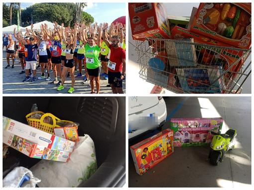 La 'Diano Runners' mantiene gli impegni: donati al centro pediatrico giochi e tanto altro da destinare ai bambini (foto)