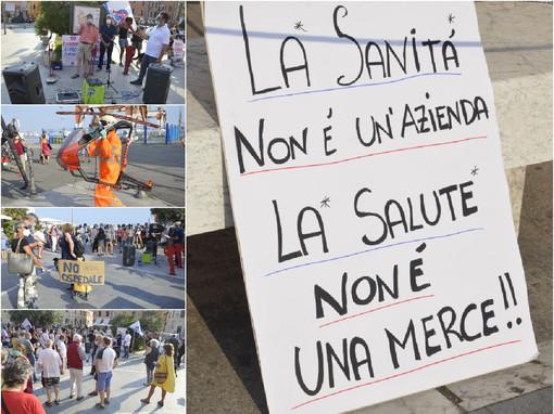 Imperia, manifestazione contro l'ospedale unico di Taggia. Da Oneglia si leva forte il grido del fronte contrario al progetto (Foto e video)