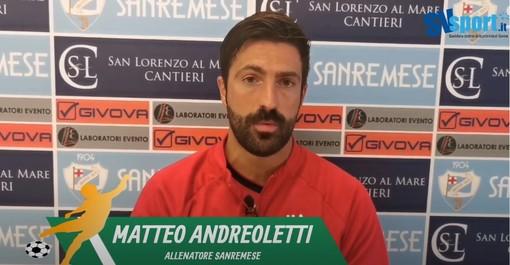 """Calcio, Sanremese. primo hurrà in campionato per mister Andreoletti: """"Vittoria con il Vado mai in dubbio"""""""