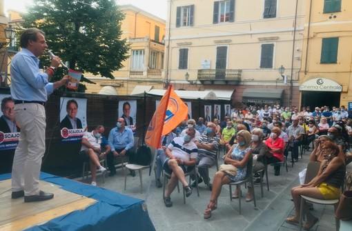 Imperia: bagno di folla all'incontro organizzato per Marco Scajola (Cambiamo con Toti Presidente)