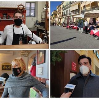 """Coronavirus, Imperia, riapertura dei bar e ristoranti in zona gialla, gli imprenditori chiedono certezze per il futuro: """"Non si può lavorare senza una programmazione"""" (Foto e video)"""