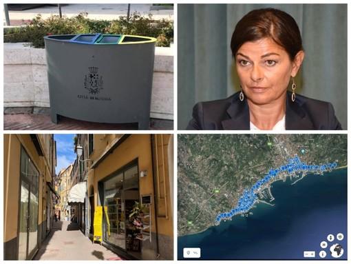 Imperia, investimenti del Comune sull'arredo urbano e sull'ambiente: installati 100 cestini e in arrivo 30 portabiciclette e nuove panchine in via dell'Ospedale