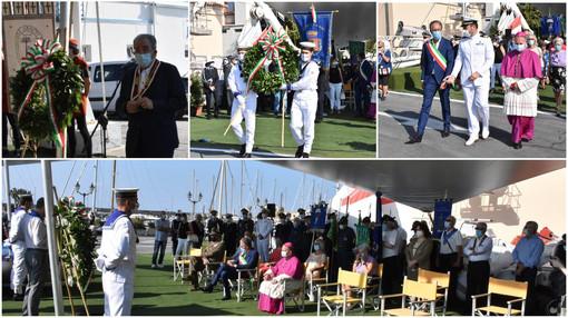 Festa dell'Assunta a Sanremo: la cerimonia in tono minore per ricordare i Caduti in mare (Foto e Video)