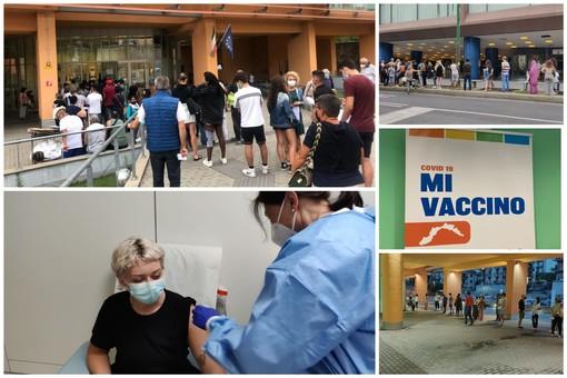 Coronavirus: Sanremo vince il 'derby' della 'Open night': 295 vaccinati contro i 180 al Palasalute di Imperia (foto)