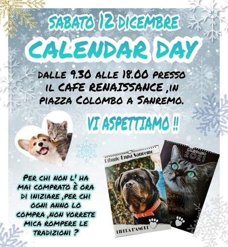 """Sanremo: sabato il """"calendar day"""" dell'Enpa presso il cafè Renaissance"""