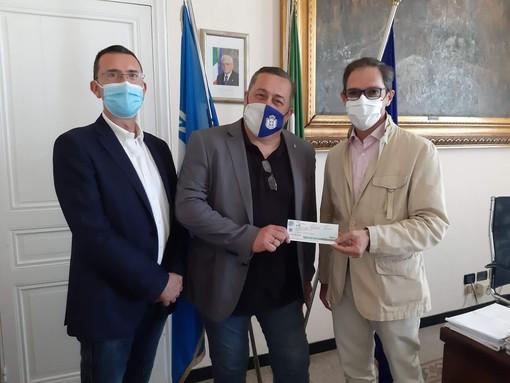Bordighera: questa mattina consegnato fondo di solidarietà a Francesco Verrando