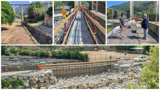 Taggia: iniziato il cantiere di regione Bruxiae, oggi aprirà il bypass pedonale (Foto e video)