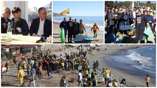 Sanremo: la pulizia della spiaggia di Bussana è rock con Piero Pelù, protagonista del Clean Beach Tour di Legambiente
