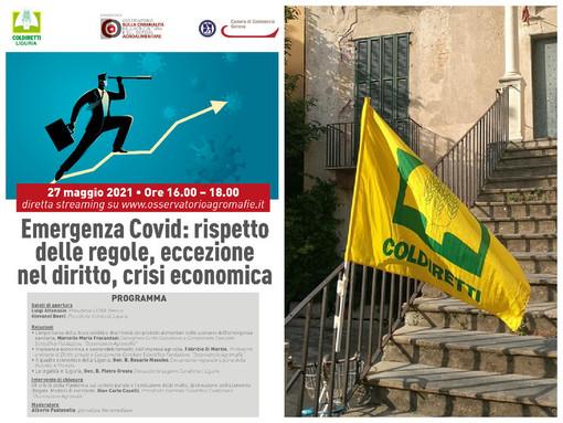 """Agromafie: il 27 maggio il webinar """"Emergenza covid: rispetto delle regole, eccezione del diritto, crisi economica"""""""
