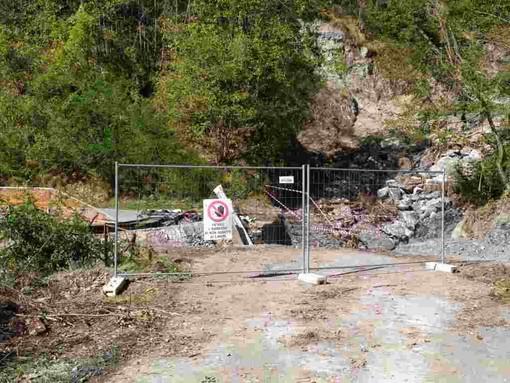 Il ponte di collegamento tra Cosio e Mendatica crollato lo scorso ottobre