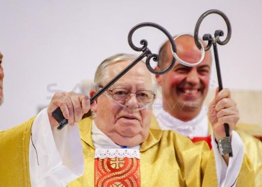 Don Contardo Colombi, durante la cerimonia del 2016