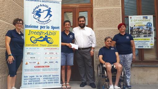 Sanremo: donazione in memoria di Luca Bregliano, i ringraziamenti della Polisportiva Integrabili