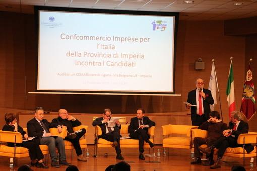 I candidati alle politiche ospiti al dibattito di Confcommercio Imperia. Piccole-medie imprese, commercio ed economia territoriale gli argomenti principali