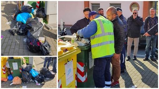 Taggia: mucchi di spazzatura abbandonata in via del Piano, scattano i controlli e... le multe