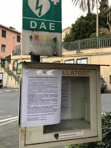 """Sanremo: rubato defibrillatore alla Foce, Arrigoni (Nuovo Ritmo nel Cuore) """"Un grave danno per la collettività"""""""
