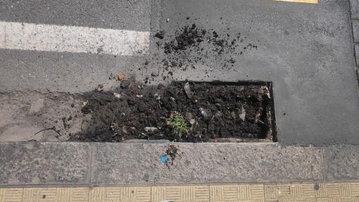 Sanremo: grate stradali ripulite e nuovamente ostruite, un commerciante auspica intervento del Comune