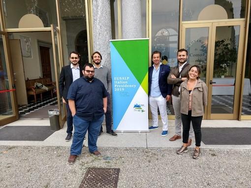 I giovani amministratori dell'area EUSALP a Como per parlare di ambiente e fondi europei, c'era anche il Sindaco di Terzorio ed altri amministratori ponentini