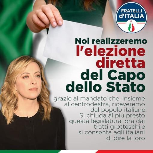 Anche in provincia di Imperia domani la raccolta firme per le riforme di Fratelli d'Italia