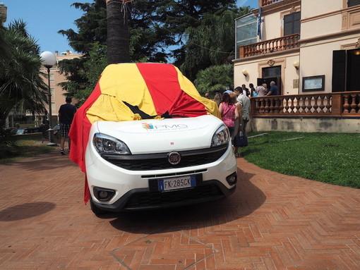 Taggia: un Fiat Doblò per i Servizi Sociali del Comune, la cerimonia per la consegna a Villa Boselli (FOTO e VIDEO)
