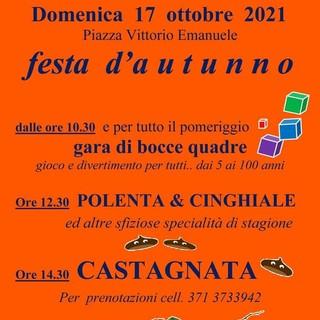 Domenica festa d'autunno a Pontedassio con bocce quadrate e castagne