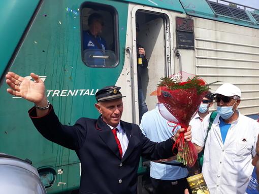 Festa alla Stazione di Ventimiglia: per il pensionamento di Flavio Giuliani, 40 anni trascorsi nel mondo delle ferrovie