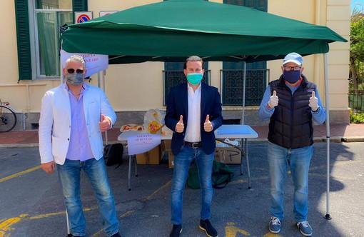 Per l'emergenza sociale a Bordighera, colletta alimentare organizzata da Forza Italia