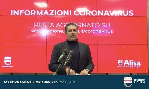 """Coronavirus, Toti: """"Aumentati i tamponi, presto li faremo a domicilio. Vicini alla discesa dei contagi"""" (video)"""