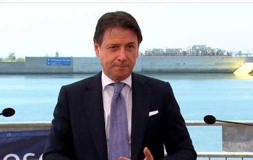 Foto: Giuseppe Conte durante il punto stampa a Venezia di oggi, 10 luglio
