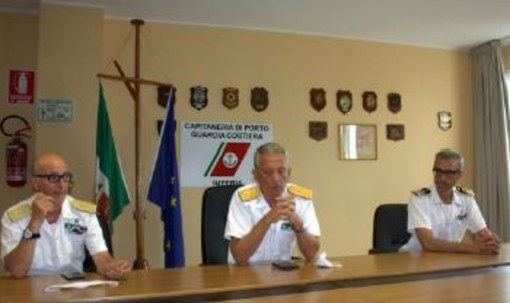 Il Comandante Generale del Corpo delle Capitanerie di Porto Giovanni Pettorino in visita al Compartimento Marittimo di Imperia e all'Ufficio Circondariale Marittimo Loano-Albenga