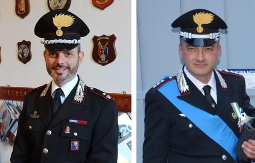 Il Cap. Giangreco, comandante a Ventimiglia promosso a Maggiore, il Cap. Guido Quatrale assegnato in provincia di Trento