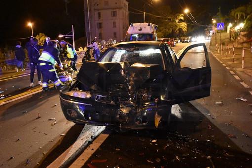 Sanremo: incidente in corso Marconi, 35enne ricoverato in prognosi riservata all'Ospedale San Martino di Genova